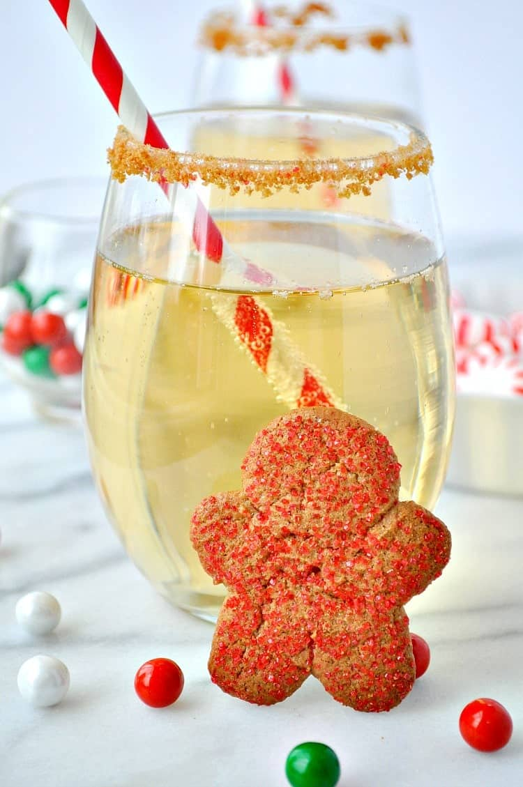 Gingerbread Cookie Champagne Cocktail 2