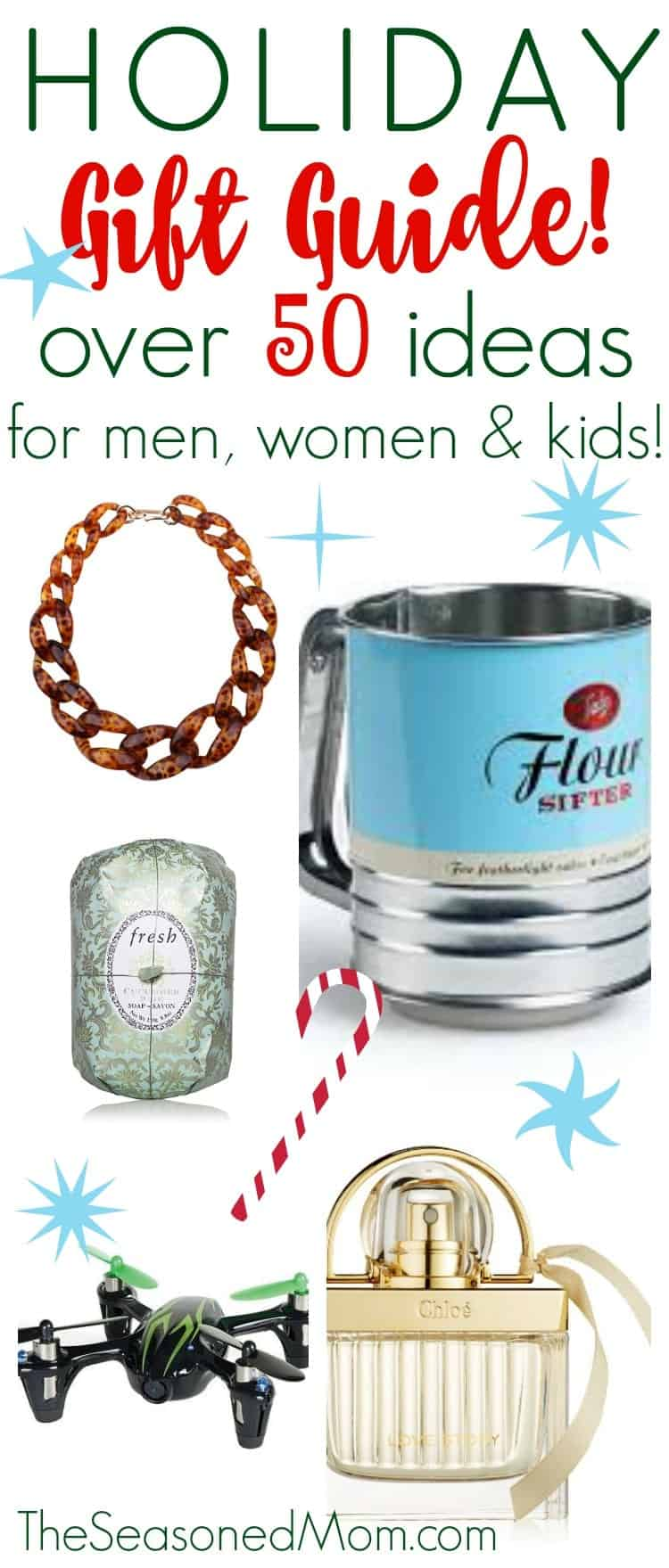 This Ultimate Holiday Gift Guide 2015 has over 50 Christmas gift ideas for men, women & kids!