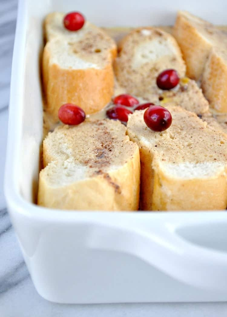 Overnight Cranberry French Toast Casserole 4