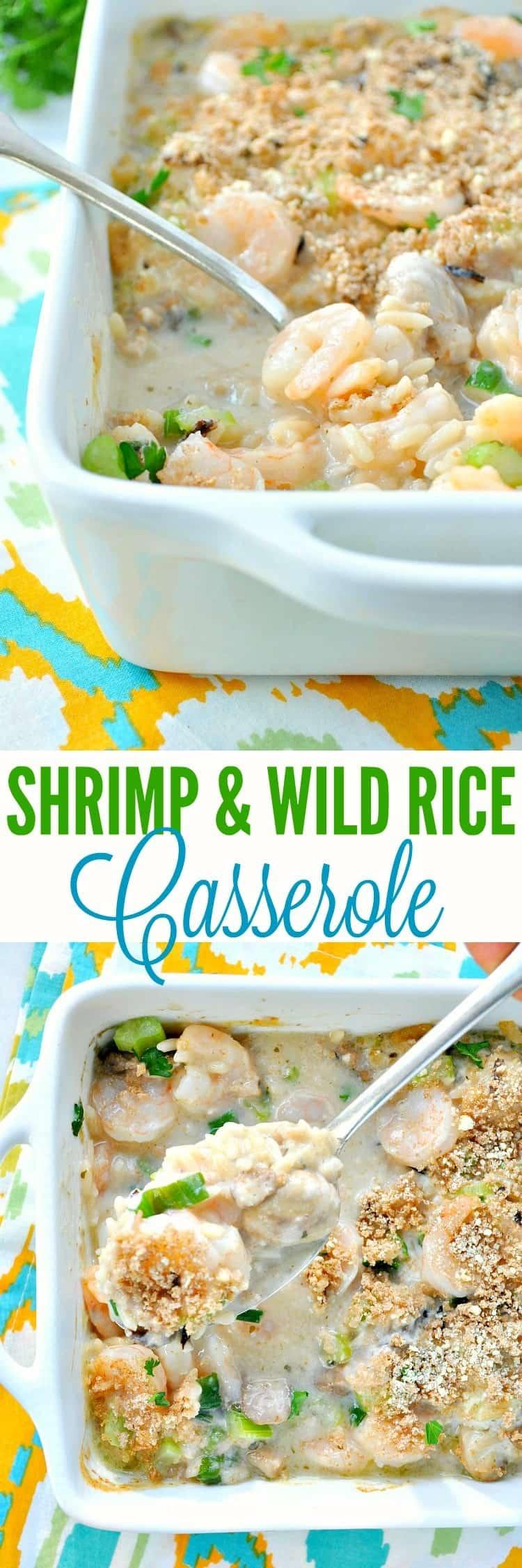 Shrimp and Wild Rice Casserole