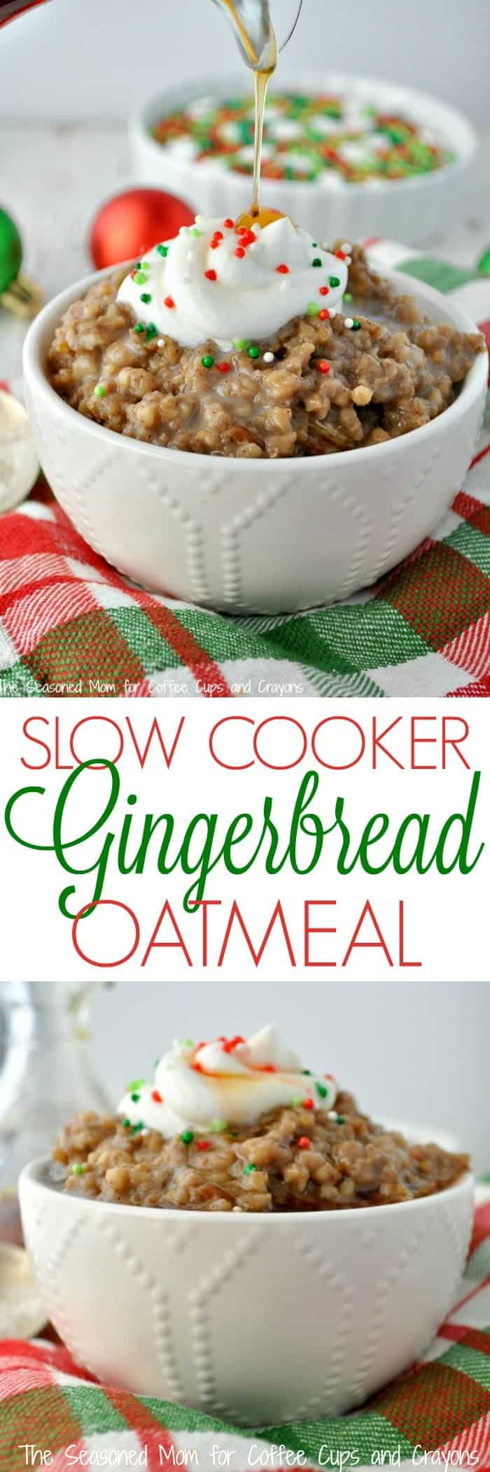 Slow Cooker Gingerbread Oatmeal