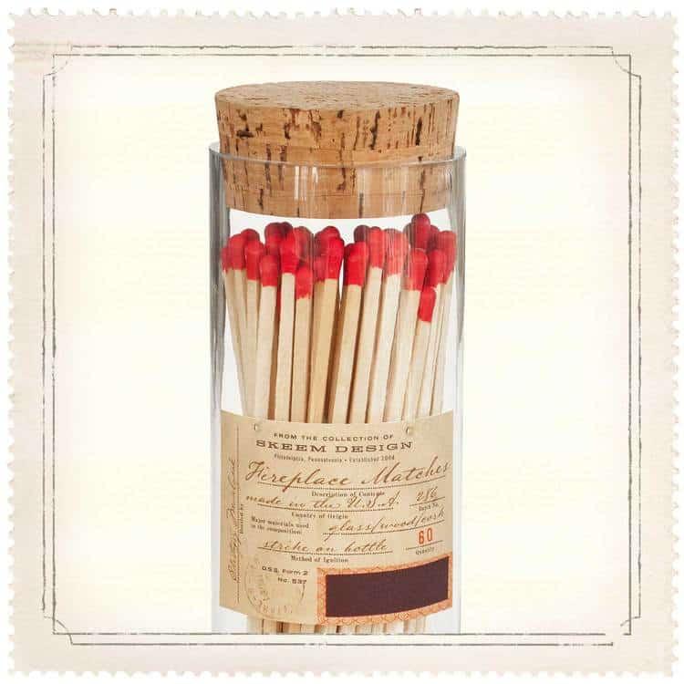 matchstick.bottle.fireplace
