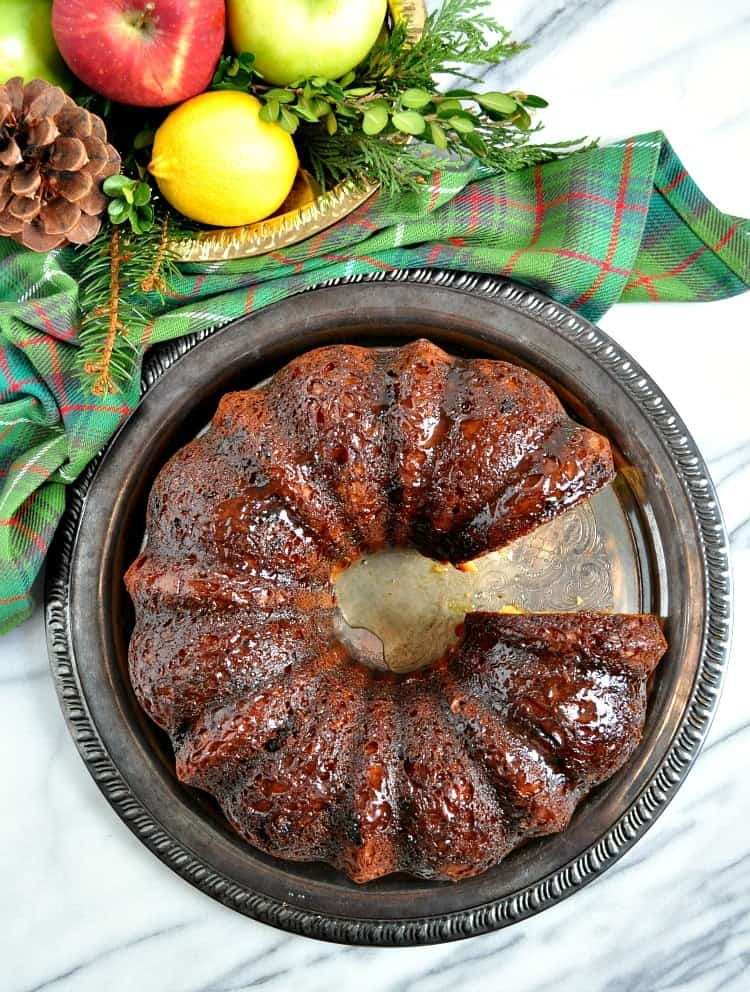 chocolate chunk rum cake is a delicious and easy holiday dessert