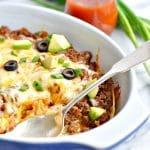 Healthy 4-Ingredient Enchilada Casserole