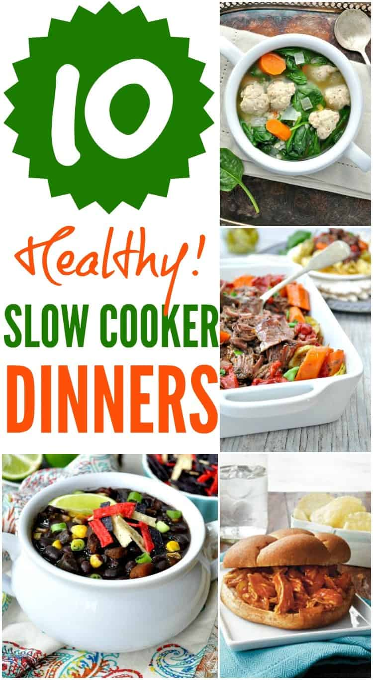 These 10 Healthy Slow Cooker Dinners are family-friendly, delicious, and EASY weeknight options!