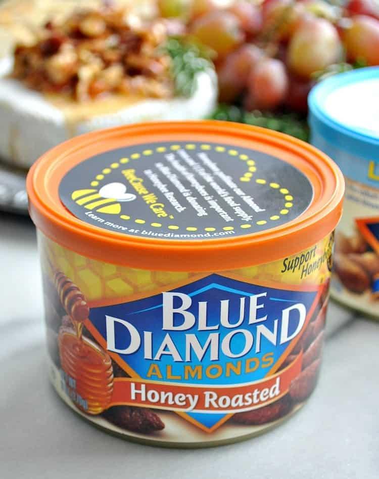 Can of Blue Diamond Honey Roasted almonds