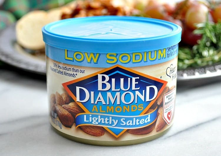 Can of lightly salted Blue Diamond almonds