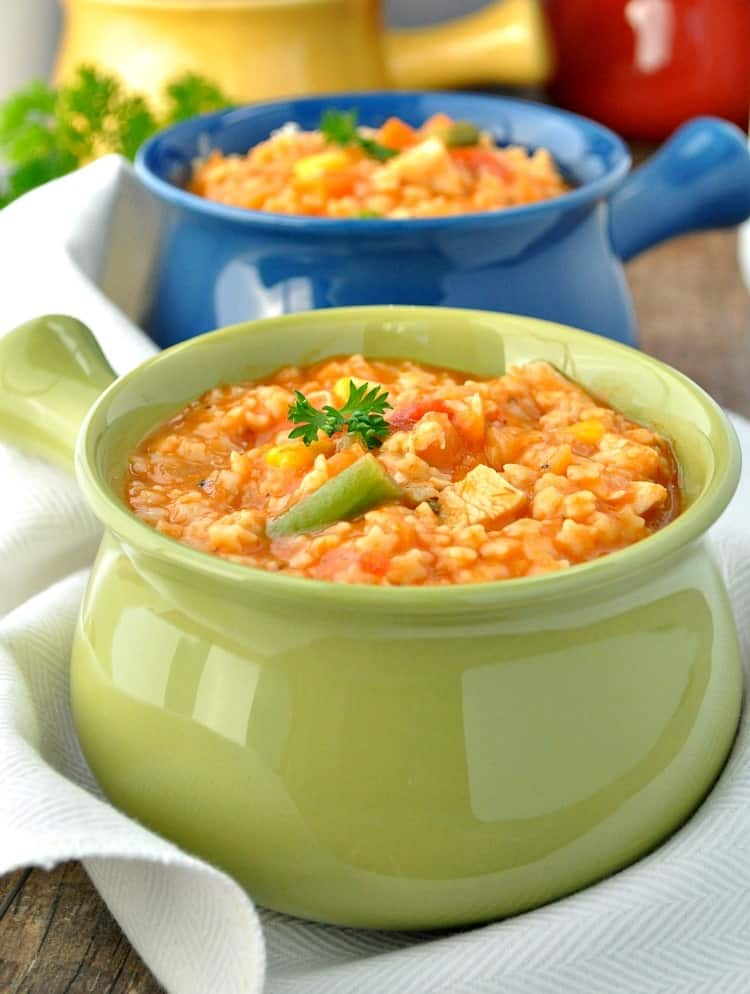 Italian Chicken and Stars Soup is a healthy soup recipe that gets dinner on the table fast!