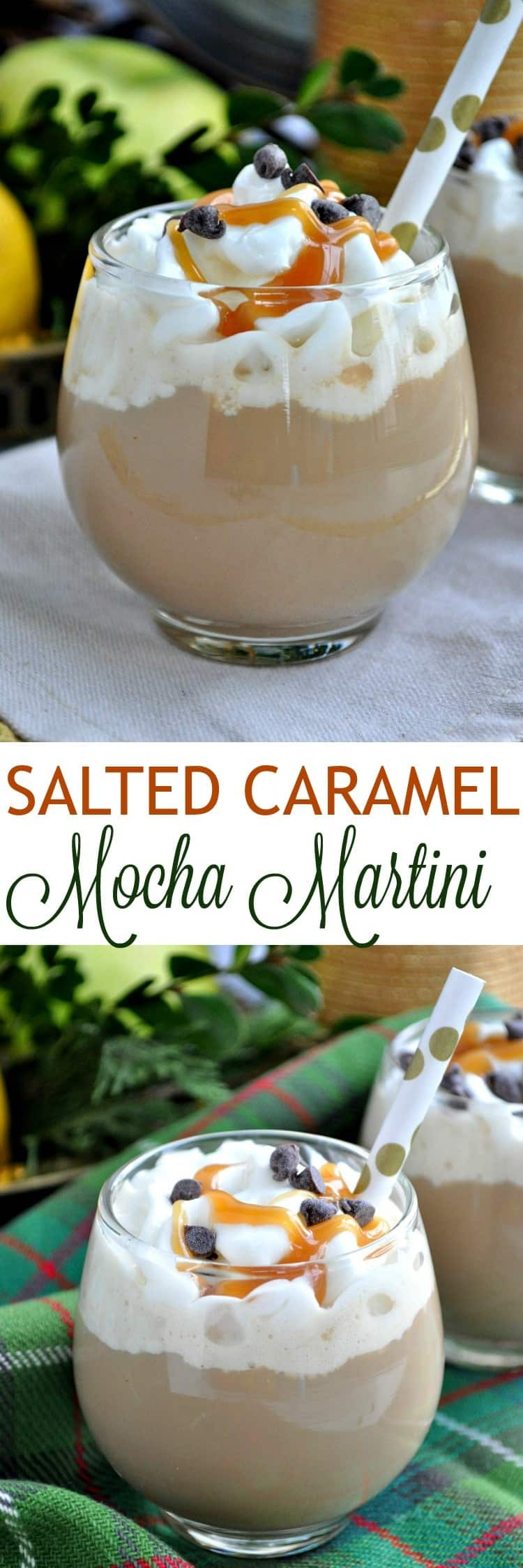 Celebrate this season with a Salted Caramel Mocha Martini! It's a simple and delicious cocktail for any special occasion!