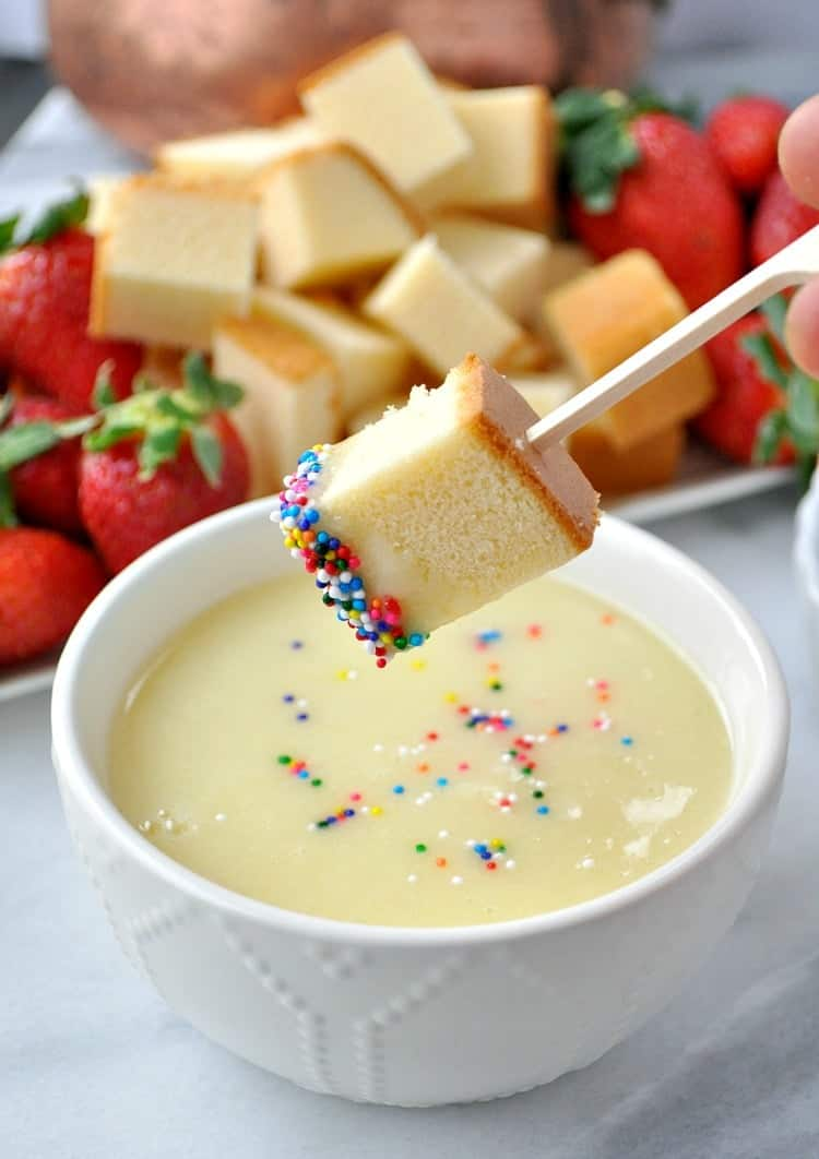 Fondue Dinner Party Ideas Part - 42: This 4-Ingredient White Chocolate Champagne Fondue Is The Perfect Dessert  For Christmas Parties,