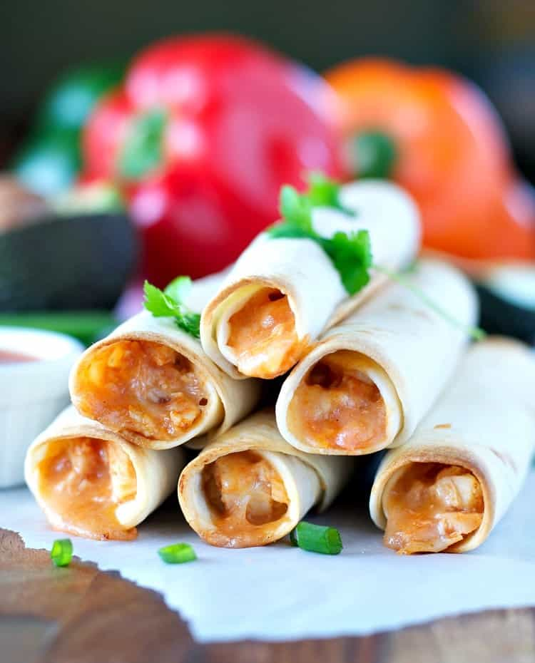 4 Ingredient Chicken Taquitos 5