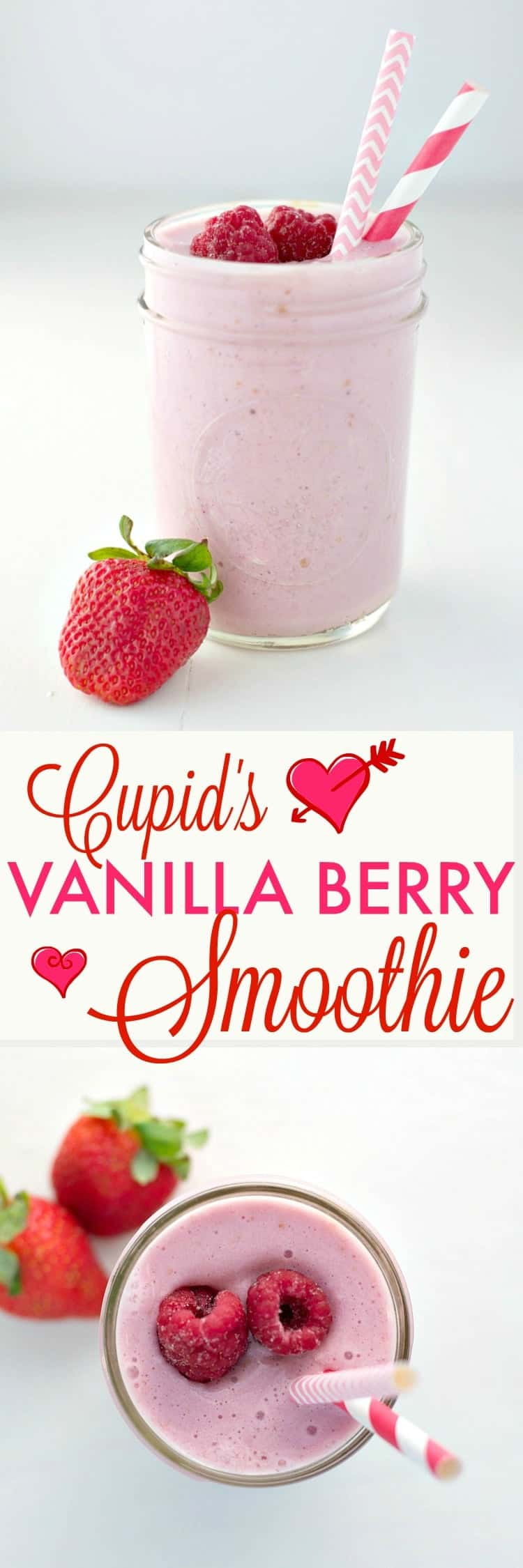 Start your day with this kid-approved and EASY Vanilla Berry Smoothie!!