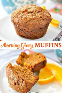 Long collage of Morning Glory Muffins
