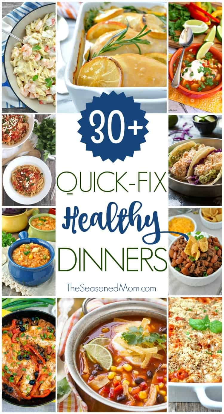Check out all of these amazing Quick Fix Healthy Dinners to make your weeknights EASY (and they only require about 15 minutes of prep)!