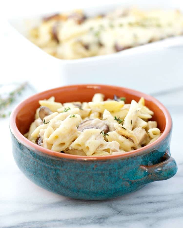 This Simple Chicken and Mushroom Casserole is an easy weeknight dinner recipe that everyone can agree on!