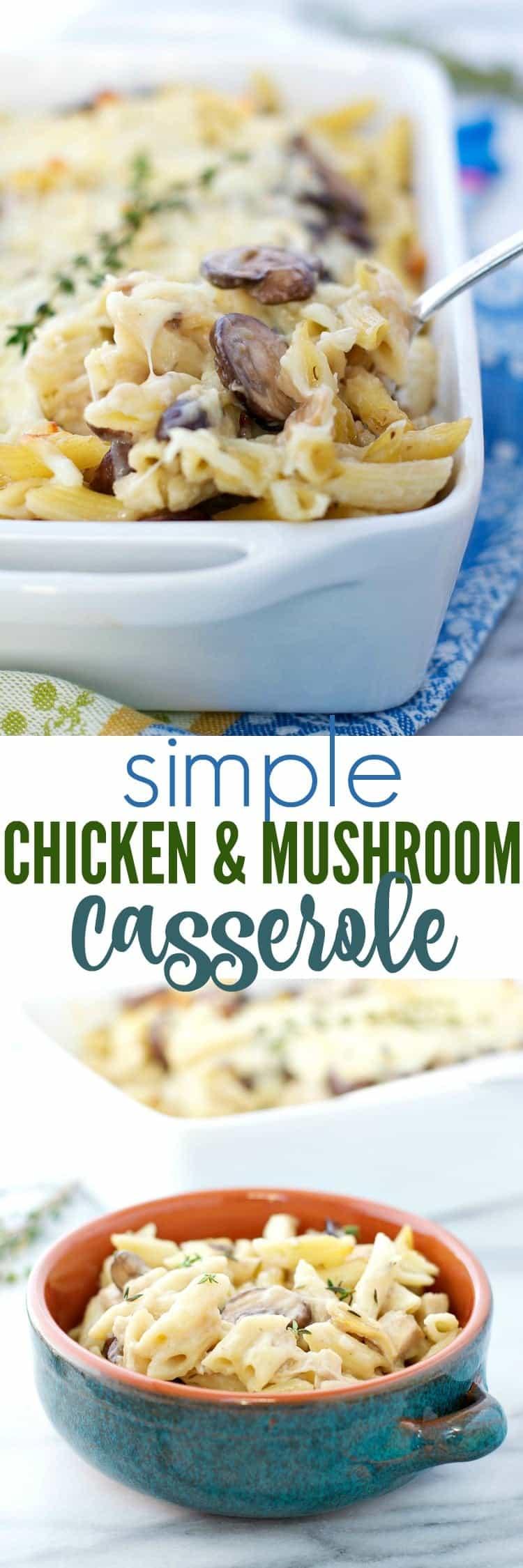 Simple Chicken and Mushroom Casserole