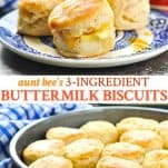 Long collage of 3 ingredient buttermilk biscuits