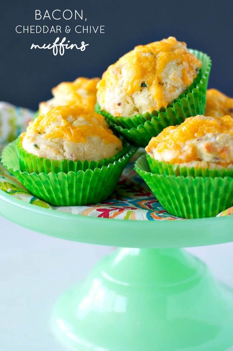 These savory Bacon, Cheddar and Chive Muffins are a quick make-ahead ...