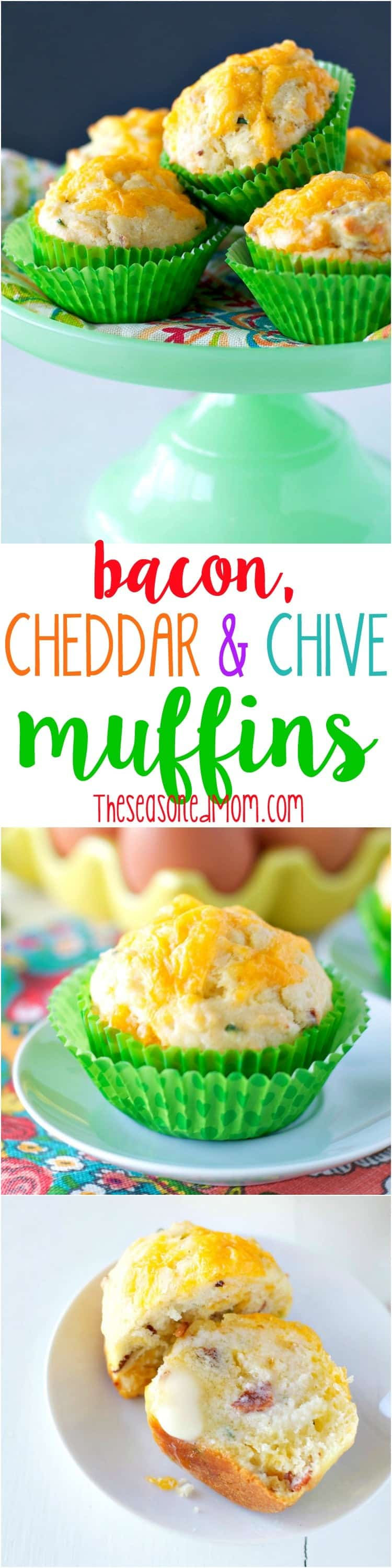 Bacon Cheddar Chive Muffins Recipe — Dishmaps