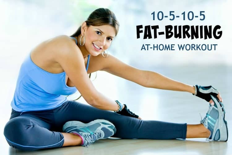There's no equipment necessary for this 20-minute 10-5-10-5 Fat Burning At Home Workout! With two quick rounds of high-intensity exercises like push-ups, burpees, and squats, you can burn calories and break a sweat quickly and effectively...whether you're in your living room, dorm room, office, or hotel room!
