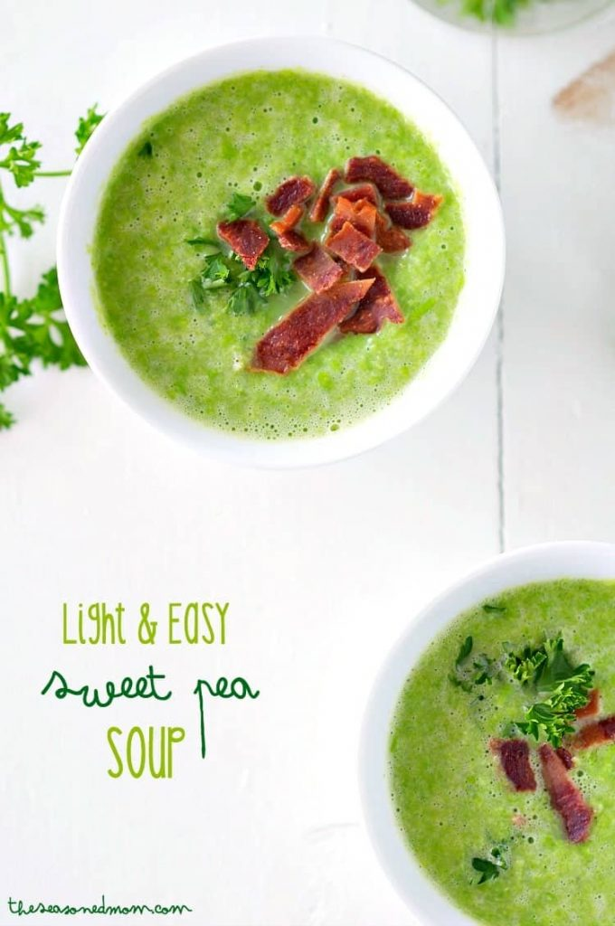 Light and Easy Sweet Pea Soup