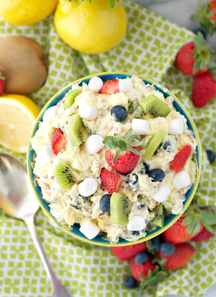 "Celebrate the season with a ""Spring Fling"" Fluff Fruit Salad!"