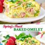 Long collage of Spring's Finest Baked Omelet