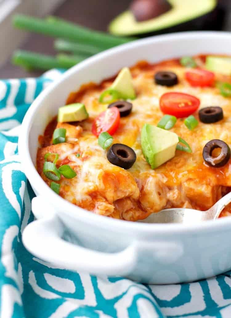 4 Ingredient Healthy Chicken Enchilada Casserole 3