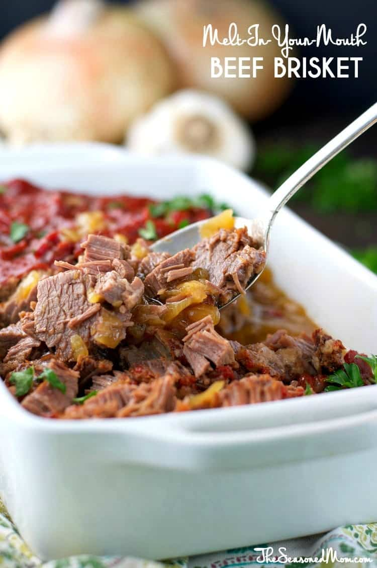This Melt-In-Your-Mouth Braised Beef Brisket in a garlic and onion ...