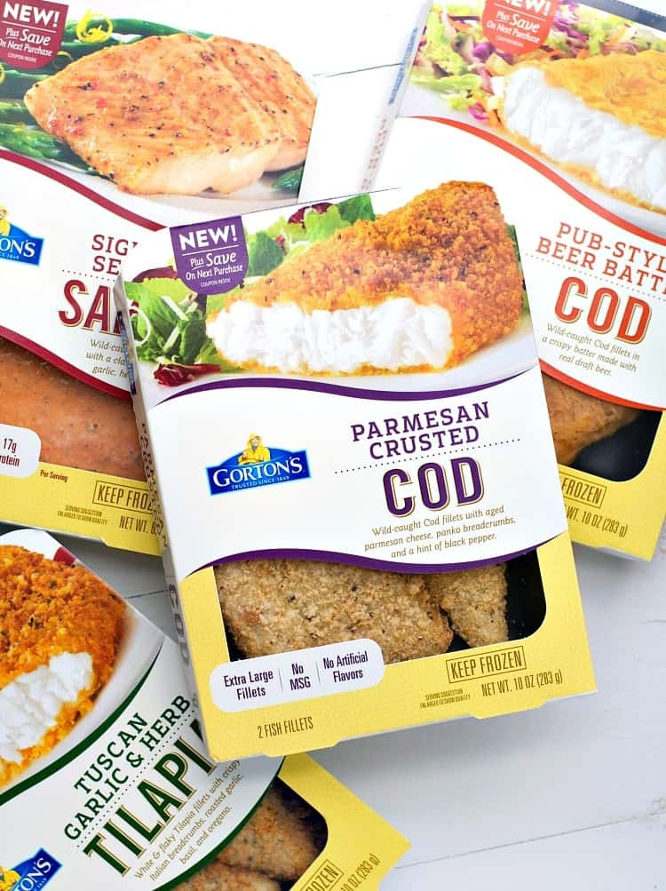 Product shot of Gordons parmesan crusted cod