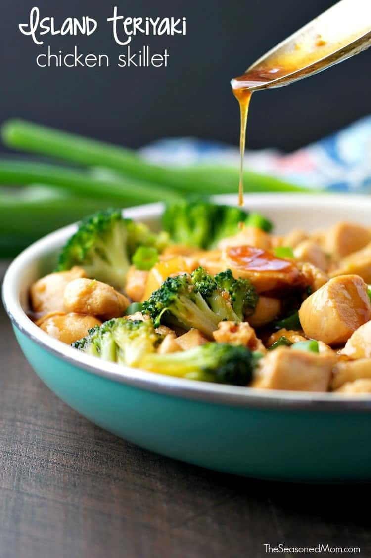 Island Teriyaki Chicken Skillet TEXT