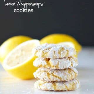 Aunt Bee's Lemon Whippersnaps {Cake Mix Crinkle Cookies}