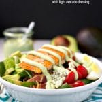 Salmon Cobb Salad with Light Avocado Dressing