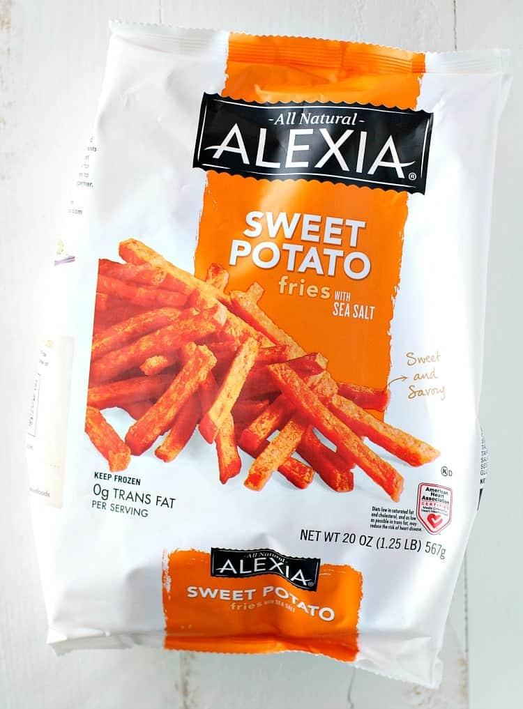 An overhead shot of Alexa sweet potato fries