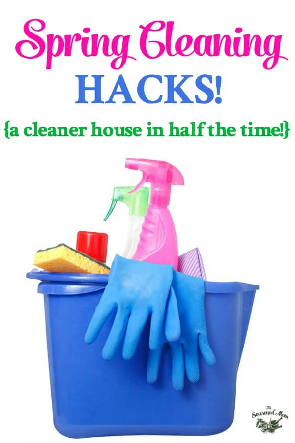 Spring Cleaning Hacks collage