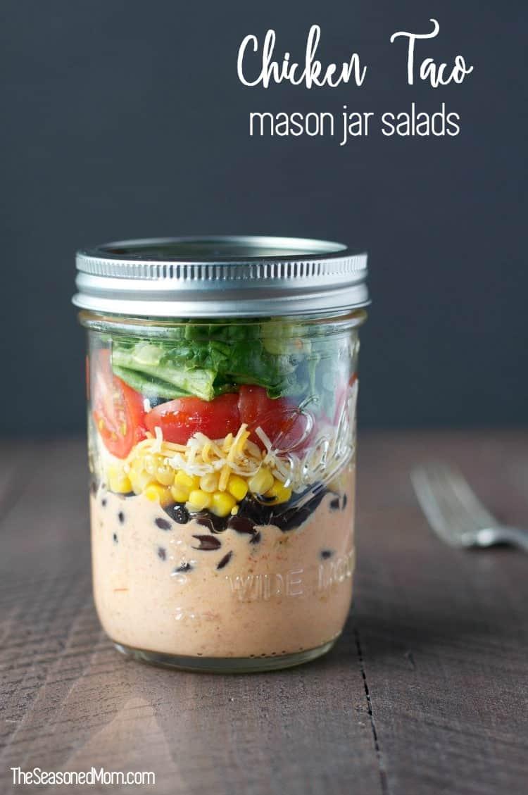 Chicken Taco Mason Jar Salads TEXT 3