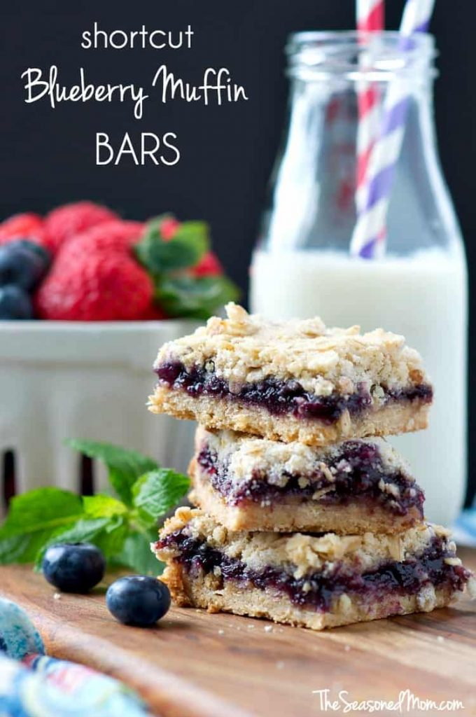 Mom's Shortcut Blueberry Muffin Bars