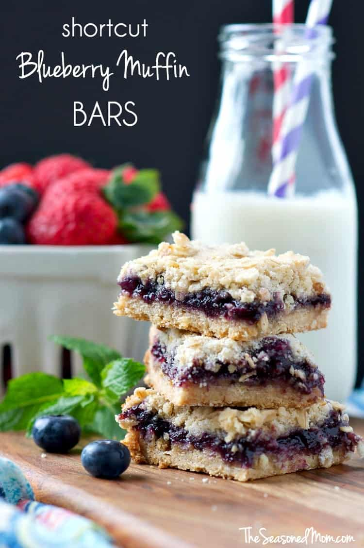 Mom's Shortcut Blueberry Muffin Bars TEXT