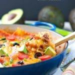 Skinny Mexican Skillet Lasagna