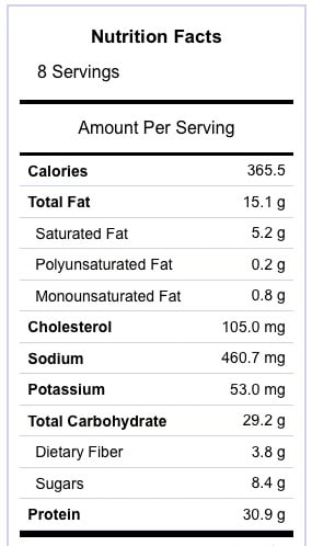Chicken Fajita Burger Nutrition Information