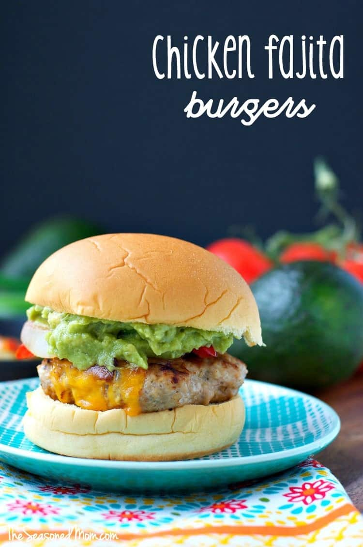 Chicken Fajita Burgers TEXT