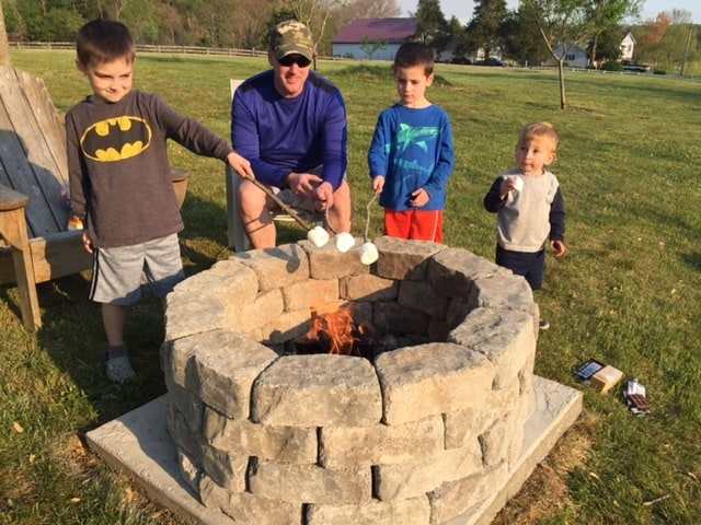 Keith and Boys Smores