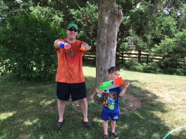 Keith and Casey Water Guns