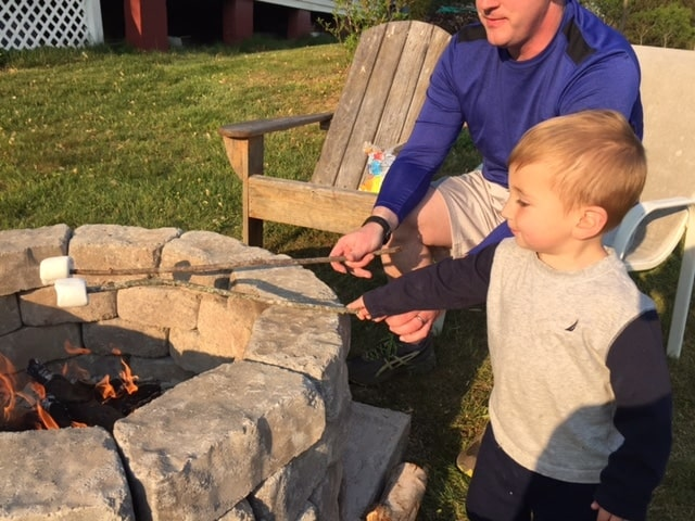 Keith and Spencer Smores