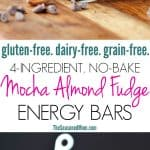 A collage image of homemade energy bars