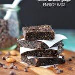 No-Bake Mocha Almond Fudge Energy Bars