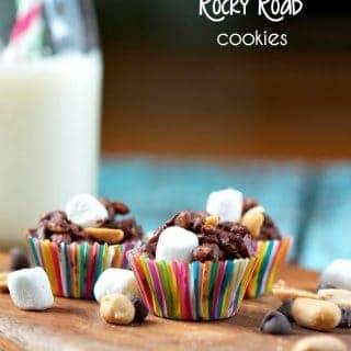 No Bake Rocky Road Cookies