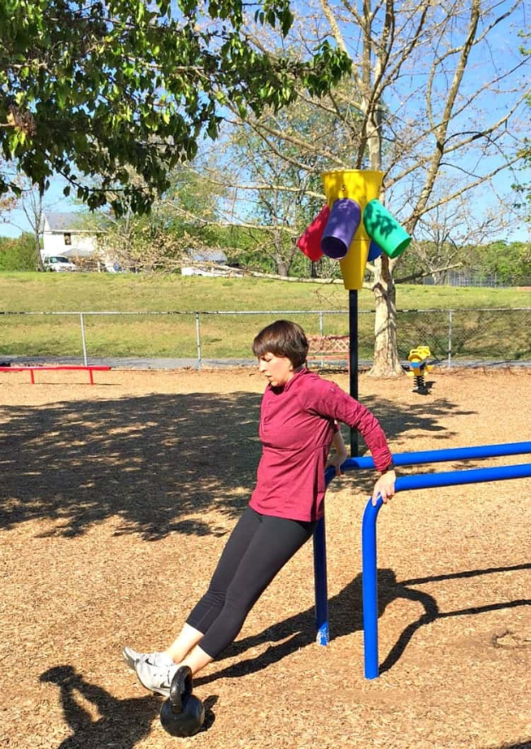 This Tabata-Style Playground Workout is an efficient 16-minute cardio and strength exercise routine that will work your entire body!
