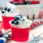 Red, White and Blue Jell-O Cups