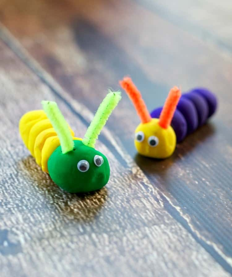 Wacky Bugs are a fun, easy, and clean Summer Craft for Kids!